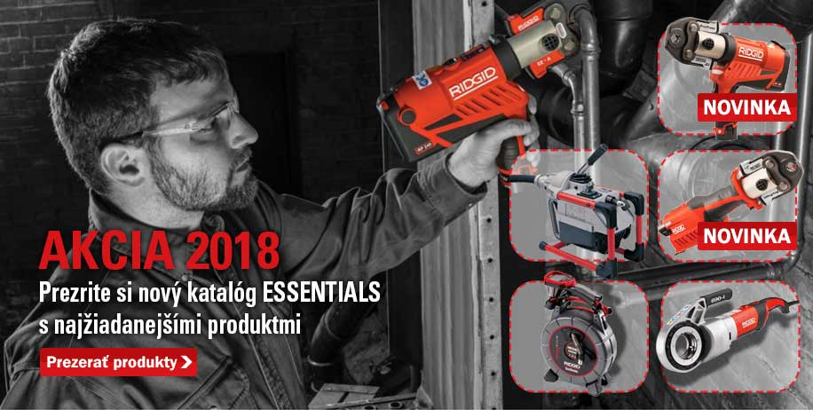 ridgid essentials akcia 2018